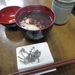 箸折茶屋 - ぜんざい 300円