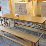 京橋 うどん - 【立ち食いスタイルですが…実は座って食べれるテーブル席アリ】