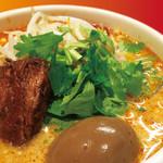 刀削麺荘 唐家 - 『濃厚ねりゴマ麻辣刀削麺』全部のせ