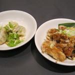 35633795 - 水餃子、油淋鶏(スペシャルランチ)
