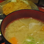 Ton - 豚汁定食(ランパスで500円)