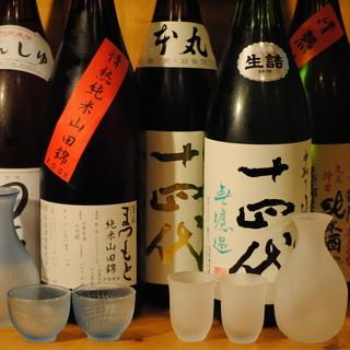 日本酒15種以上、焼酎60種以上、ワイン10種以上