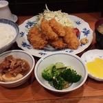 お菜処 ゆう - かきフライ 900円