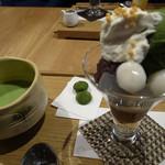 つぼ市製茶本舗 - 抹茶パフェのセット