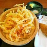 丸亀製麺 たまプラーザテラス店 - 釜揚げうどん&野菜かき揚げ+いなり