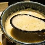 座銀 - ③鶏つけSoba(つけ汁)