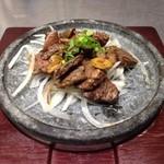 あきよし - ジビエ料理、山羊のステーキ。