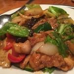 長楽 - 『鶏肉と野菜の辛口炒め』様(1090円)※だったと思います。