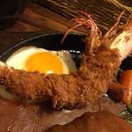 洋食春 - 有頭海老フライアップ