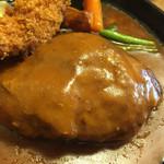 洋食春 - ハンバーグアップ