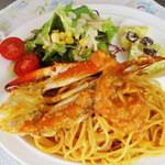 カフェ まいら - 渡り蟹のトマトクリームパスタ