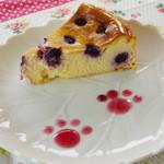 カフェ まいら - ブルーベリーチーズケーキ