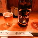 飛騨路 - ドリンク写真:ビール(サッポロ黒ラベル)