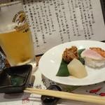 わ食場 はす家 - 2013年11月 お通し。お寿司とは!