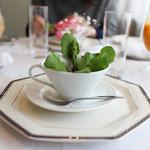 ブラッセリー ブルゴーニュ - アミューズ プランター(春の芽ぶきの一皿)☆