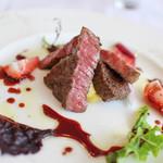 ブラッセリー ブルゴーニュ - 特選黒毛和牛のステーキ 赤ワインソース☆