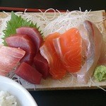 35677001 - 刺身7種盛り定食(1200円)