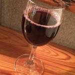 立呑み 風神 - グラスワイン赤300円
