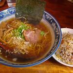 35678167 - 味丸(Aセット・味丸ラーメン&半チャーハン980円)