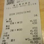 無添くら寿司 - レシート(2015.02.22)