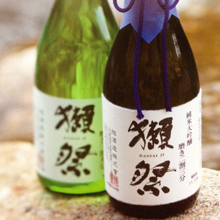 【獺祭】【田酒】等プレミアムな日本酒ご用意しております!