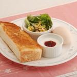 桜宮珈琲 - モーニング:トースト&ゆで卵
