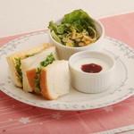 桜宮珈琲 - モーニング:玉子サンド