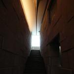 茶洒 金田中 - お店に上がる階段