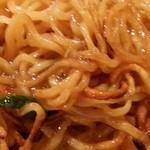 中華料理 しむら - 焼きが入った麺 2015.3