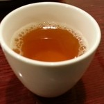 中華料理 しむら - 食後はお茶が供される 2015.3