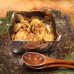 八孝 - 鱈白子の醤油焼き