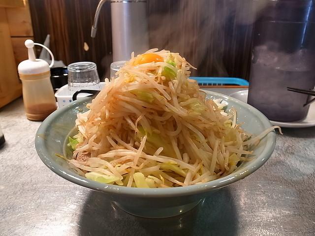 ラーメンだるま 小倉店 - 汁なし大、ヤサイマシマシ(2015年2月27日)