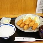 とんぼ - カキフライ定食