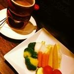 温野菜のバーニャカウダー