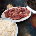 スタミナ苑 - ハラミ定食 ¥1050