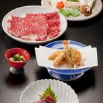 割烹 天ぷら 三太郎 - 黒毛和牛しゃぶしゃぶ会席 ¥11,000