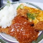 ハイライト食堂 - カラフルジャンボチキンカツ(740円)