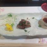 すてーきはうす寿々 - 牛のタタキ :めちゃ美味い