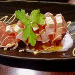 とりでん - 生ハムトマトチーズカルパッチョ 572円