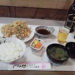 むさし - 桜えびかき揚定食\1,400-