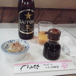 むさし - 瓶ビールは大瓶\650-