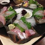 35698269 - 明石海峡地魚の三種盛り(4人分)