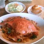 3570235 - 渡り蟹のトマトクリームパスタ