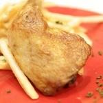 鶏のコンフィ(W/サラダ、パン)
