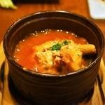 ピッツェリア ダ タサキ - 2015.2 下町風トリッパと白もつのトマト煮込み(500円)