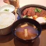 やよい軒 - 料理写真:味噌かつ煮定食(760円)税込!