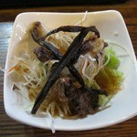 はせ川 - おまかせ⑥鹿燻製と熊肉のサラダ