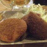 爺爺 - 気まぐれおやじセット500円(ドリンク1杯&ミックスフライ)(2015.3.7)