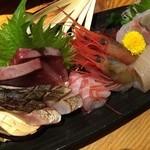 35703855 - 新潟の地の素材の刺身の盛り合わせ。日本酒と合わせればまさに至福です!