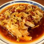 聚福縁 - 蒸し鶏の特製ソースかけ